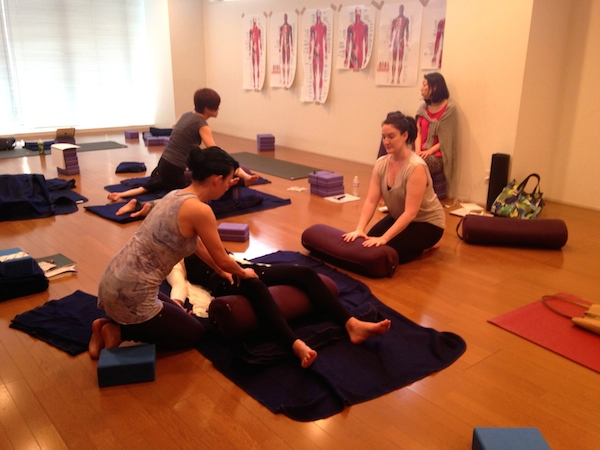 Kristin Leal teaching ISHTA Marma Workshop Series at Be Yoga Japan, Hiroo, Tokyo