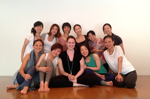 Kristin Leal and the participants in the ISHTA Marma Workshop Series