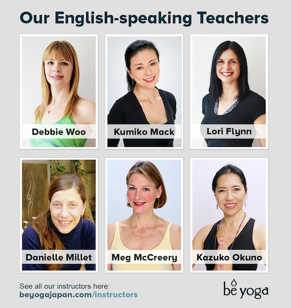 Be Yoga Japan's English-speaking Teachers, Hiroo, Tokyo, Japan