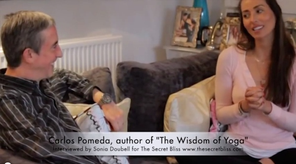 Carlos Pomeda, author of The Wisdom of Yoga interviewed by Sonia Doubell for The Secret Bliss www.thesecretbliss.com