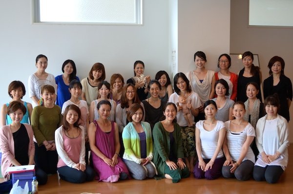 2014/07/06 Workshop: Postpartum Yoga Guidance by Kumiko Mack & Sayaka Nagano at Be Yoga Japan, Hiroo, Tokyo