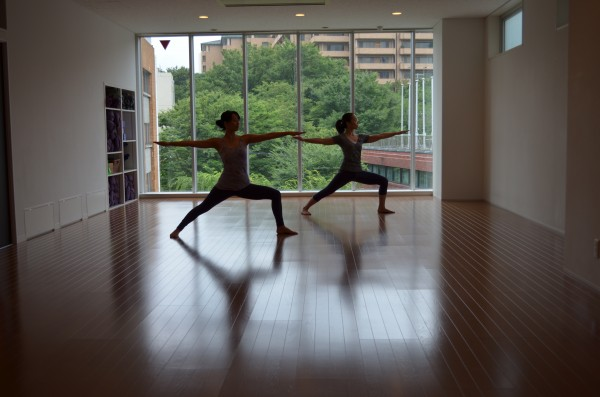 Meditation at Be Yoga Japan studio, Hiroo, Tokyo, Japan