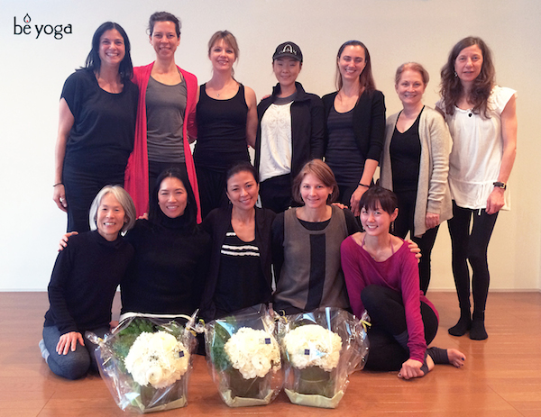 Be Yoga Japan 200-hour English Teacher Training Course, graduation group photo