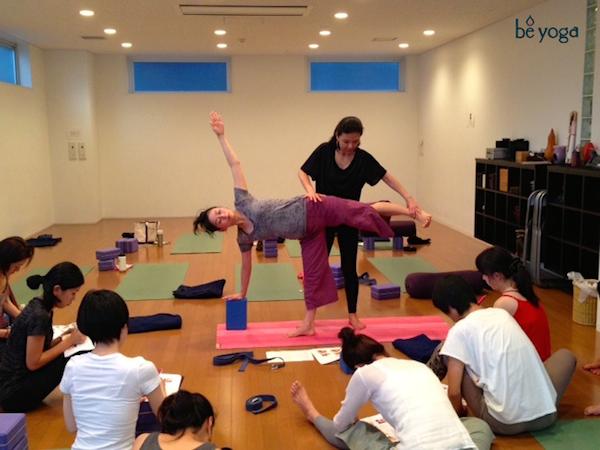 2013 Kumiko Mack teaching 500-hour Teacher Training Course at Be Yoga Japan, Hiroo, Tokyo