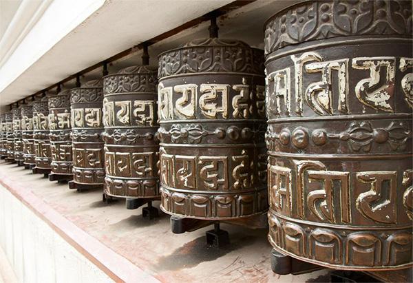 San Skrit prayer wheels from Tibet