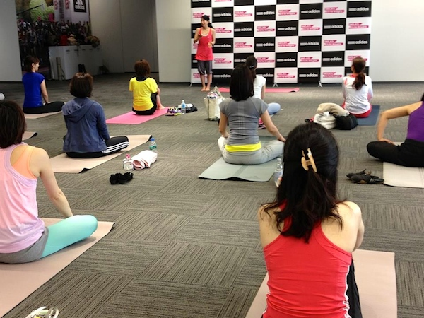 Be Yoga Japan private class Adidas Japan 2