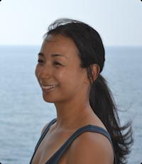 Junko Saegusa, a certified instructor at Be Yoga Japan, Hiroo, Tokyo