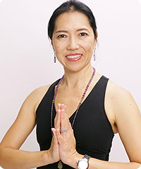 Kazuko Okuno, a certified instructor at Be Yoga Japan, Hiroo, Tokyo
