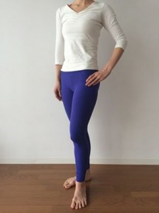 yoga wear blue leggings by Be Present