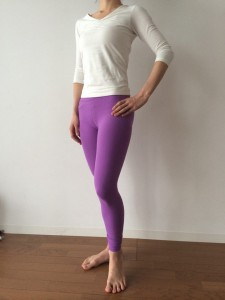 yoga wear purple leggings by Be Present